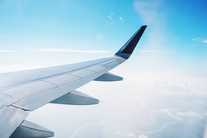 Find cheap flights airplane wing